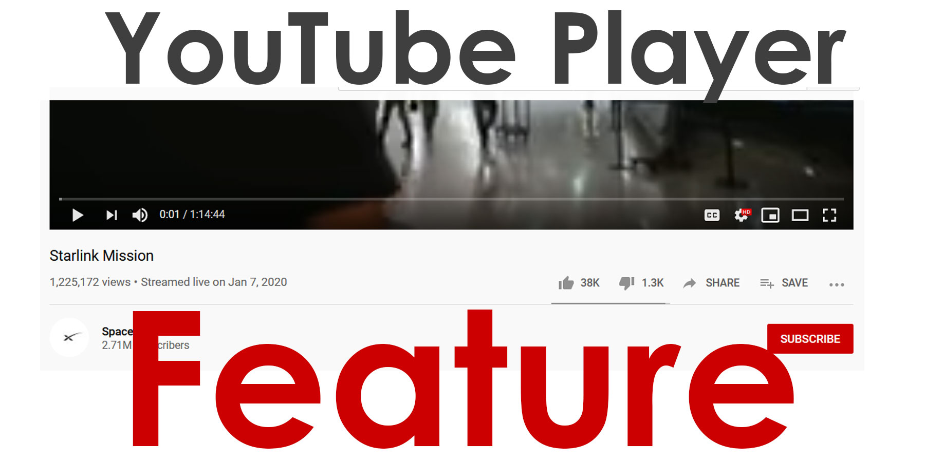 youtube player features